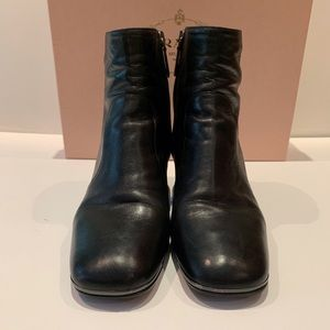 Prada black leather booties Sz 37 EU